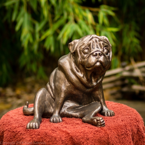 pug bookend in bronze - left hand side (1 of 9)