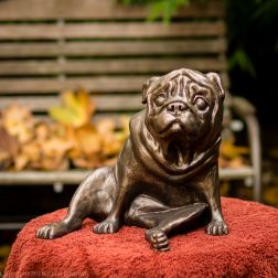 pug bookend in bronze - left hand side (2 of 9)