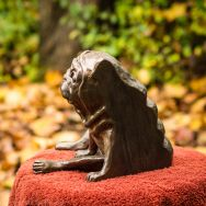 pug bookend in bronze - left hand side (4 of 9)
