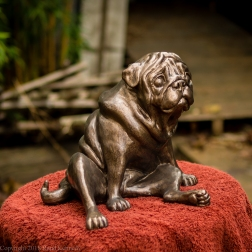pug bookend in bronze - left hand side (5 of 9)