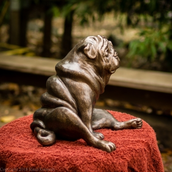 pug bookend in bronze - left hand side (6 of 9)