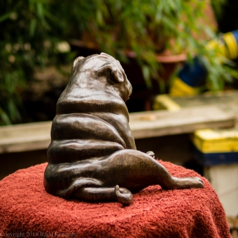 pug bookend in bronze - left hand side (7 of 9)