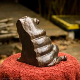 pug bookend in bronze - left hand side (8 of 9)