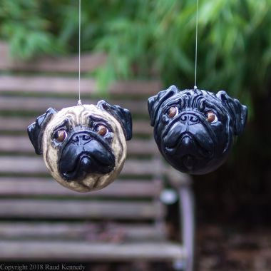 fawn and black pug ornament (1 of 7)